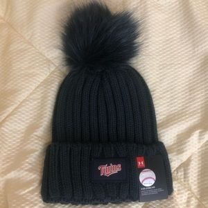 NWT Under Armour Minnesota Twins Hat with Pom Pom
